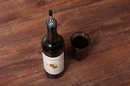 Red 200Pcs Pour Spout Covers for Liquor Bottles,Pourers Spouts Covers Dust Rubber Caps for Olive Oil Liquor Bottles