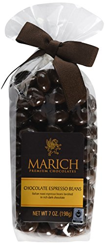 Marich Chocolate, Espresso Beans, 7 Ounce (Pack of 12) (Beans Marich Espresso Chocolate)