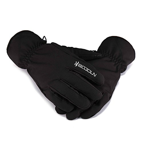 Gore Mens Mitten (Huntvp WR Windproof Unisex Winter Thermal Warm Snow Skiing Snowboarding Snowmobile Ski Riding Gloves,Black L)
