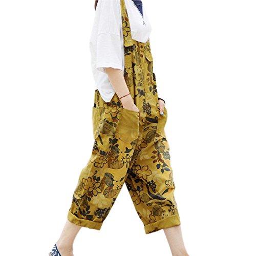 Donna Busbana Strappato Baggy Moda Casuale Battercake Francese Tendenza Bicchierini Lunga Colour 7 Streetwear Autunno Della Eleganti Primaverile Latzhosenn Harem Swag Pantaloni Denim Overall Donne A5pwqF