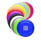 Ummah Promotions 50 Custom Printed USA Made, Frisbee 9″ Solid Color Flying Disc with your Logo or Message