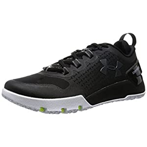 Under Armour Mens Charged Ultimate TR Low Trail Sneaker, Black/White/Graphite, 9 D(M) US