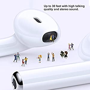 Wireless Earbuds, CHUNNUO Ture Stereo Wireless Bluetooth Earbuds, Sports In-ear Earphones Noise Cancelling Bluetooth Headphones with Charging Case for iPhone Samsung Galaxy Android iOS