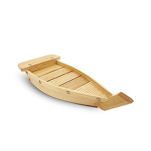 Japan China China Platter (HUANGYIFU Small Natural Wooden Sushi Serving Tray Plate Boat-Display Boat-1piece-33/37/42cm)