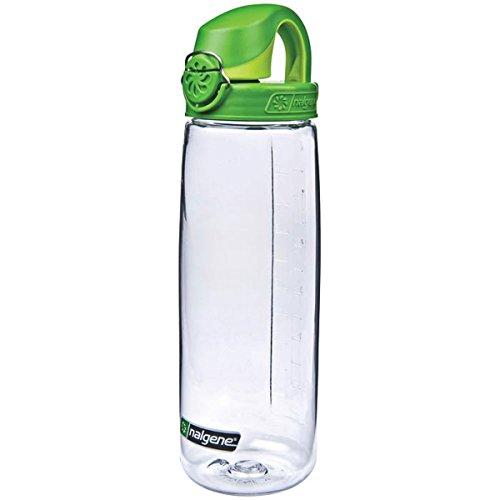 Nalgene Tritan On The Fly Water Bottle, Clear/Green, 24Oz Fly Water Bottle