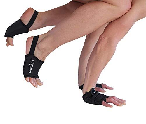 Classic Socks Set - Yoga Paws Elite Gloves and Toe Less Socks Set, Classic Black, (Size #4) Men's Regular / Wide