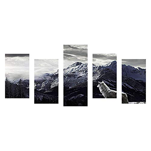5D DIY Full Drill Diamond Painting, Embroidery Painting Kit,Mountain Embroidery Paintings Rhinestone Pasted Cross Stitch for Adults or Kids,Home Wall Sticker Decor for Bedroom Kitchen (D)