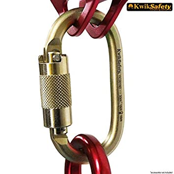 KwikSafety ANNEX   Steel & Aluminum Carabiner   Heavy Duty CE, EN and ANSI Certified Multifunctional Fall Protection Tool   Construction Search Rescue Climbing Camping Hiking Traveling Activities