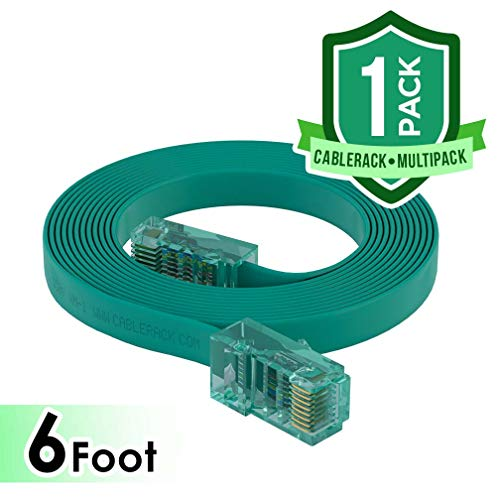 CableRack 6ft RJ45 to RJ45 Rollover Console Cable for Cisco Green