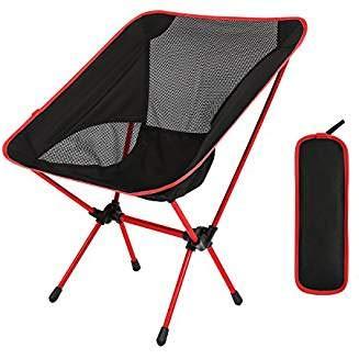 OKEU Silla de Camping Plegable,Sillas Portátil del Ocio de la Aleación de Aluminio Ultraligera, Carga hasta 150 KG para ...