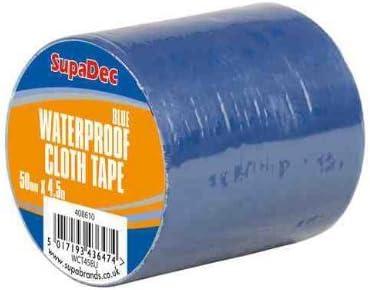 SupaDec Vorh/ängeschiene auf Rolle wasserdicht Tuch Klebeband schwarz
