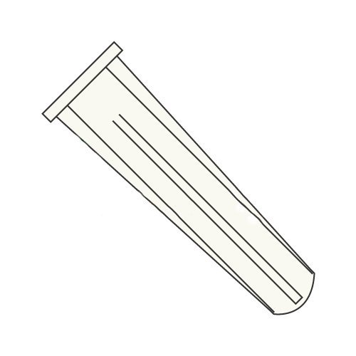 #10 - #12 x 1 Long Bantam Plug-Conical Plastic Anchors/Nylon/Blue/for Use with #10 - #12 Screws/Length: 1''/Drill Size: 1/4'' (Carton: 5,000 pcs)