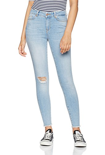 Azul SS Mujer Raw Light Vmseven NW Noos Denim Edge Moda Jeans Ankle Ba958 Vero Blue tqwTPax