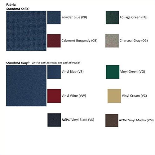 Dakota Wave Double Sled Base Sofa with Standard Fabric in Light Oak-Charcoal Grey Standard - Charcoal Grey Standard by Wooden Mallet (Image #2)