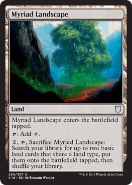MTG Myriad Landscape English, Commander Anthology, Free P/&P
