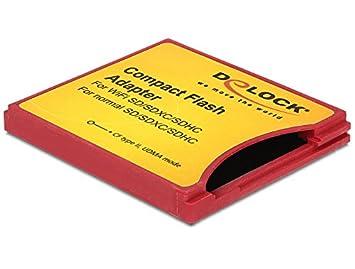DeLOCK 62542 - Adaptador para Tarjetas de Memoria SD Compatible con cámaras Compact Flash