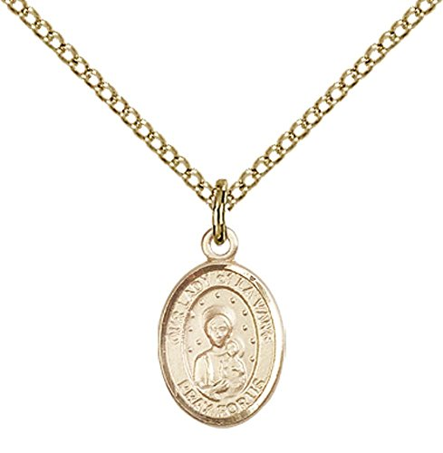 14kt Gold Filled Our Lady of La Vang Pendant with 18