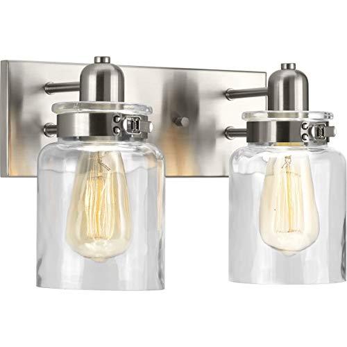 (Progress Lighting P300046-009 Calhoun Brushed Nickel Two-Light Bath &)