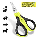 Updated 2019 Version Pet Nail Clippers for Small Animals, Best Cat Nail Clippers Claw Toenail Trimmer, Professional Home Grooming Kit for Cats Dog Bunny Rabbit Bird Puppy Kitten Ferret Kitty