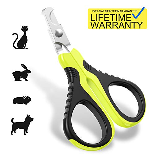 Dog Cat Nail - Updated 2019 Version Pet Nail Clippers for Small Animals, Best Cat Nail Clippers Claw Toenail Trimmer, Professional Home Grooming Kit for Cats Dog Bunny Rabbit Bird Puppy Kitten Ferret Kitty