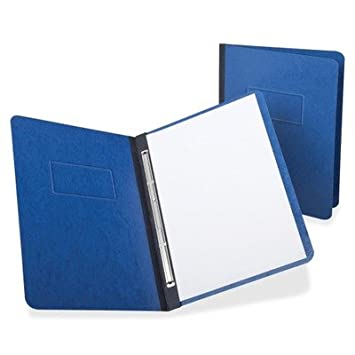 Oxford 12702 PressGuard Report Cover, Prong clip, Carta, 3quot; Capacidad, Color Azul Oscuro: Amazon.es: Oficina y papelería