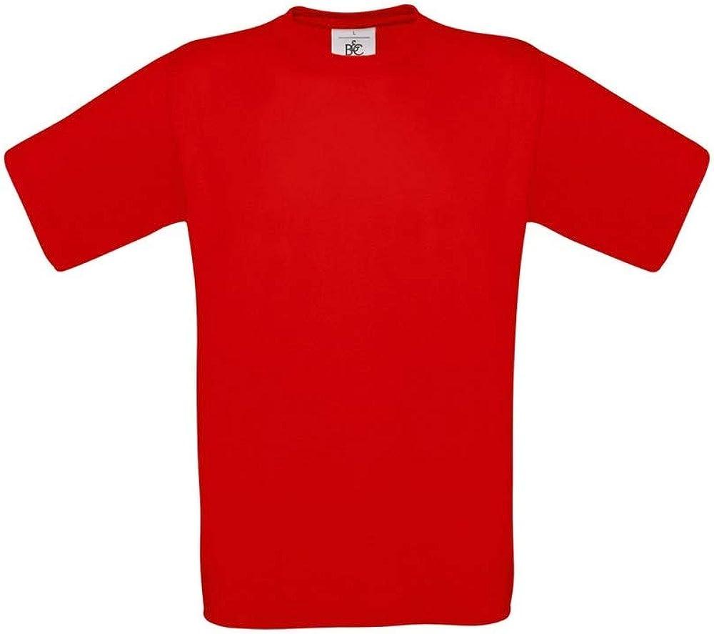 B&C - Camiseta Básica de manga corta para hombre - 100% algodon: Amazon.es: Ropa y accesorios