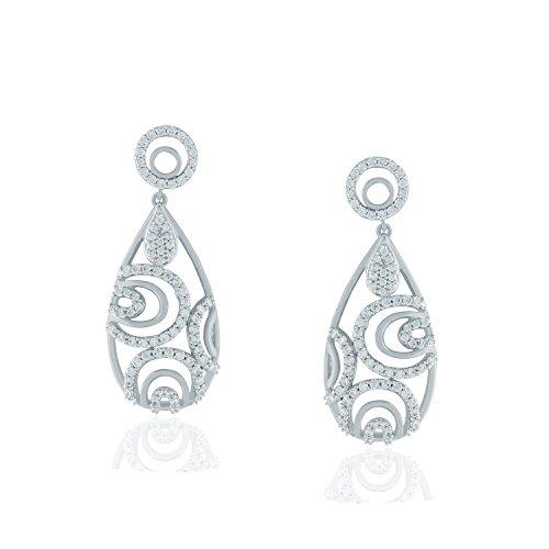 Giantti Diamant Boucle d'oreilles pendantes Femme (1.98CT, VS Clarté, Gh-colour)