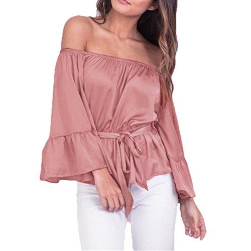 Vovotrade - mujeres camisetas Rosa
