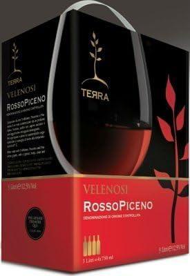 Vinos VELENOSI - Entry Level Rosso Piceno D.O.C. vino tinto italiano (1 bag in box 3 litros)