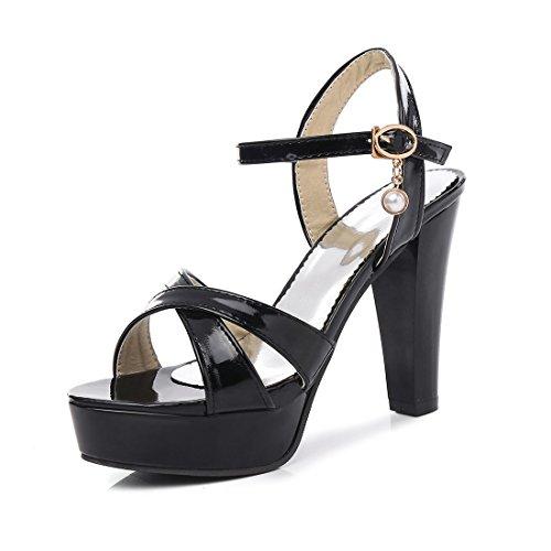 sandali ai high sandali heeled impermeabile i black sandali 42 signore tavoli sexy sandali i spesso 1FXqwap