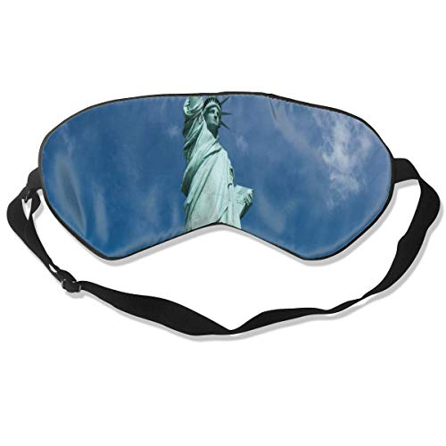 All agree Sleep Mask Statue of Liberty National Monument Eye Mask Cover with Adjustable Strap Eyemask for Travel, Nap, Meditation, Blindfold