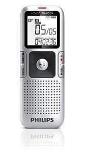 Philips Voice Tracer LFH0655/27 - Dictáfono (HQ, LP, PCM, SHQ, SLP, SP, USB, LCD, Memoria interna, 8, 16, 32, 64, 48, 96, 64, 128, 192, 256, 705, 1411, 38 x 16,4 x 105 mm)