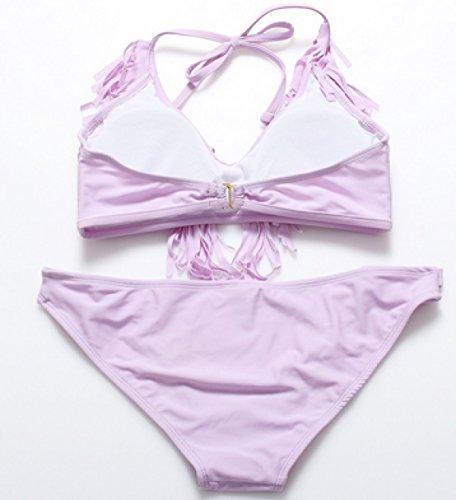KUWOMINI.Swimsuit Borla Del Traje De Baño Del Bikini Cómoda Femenina Purple