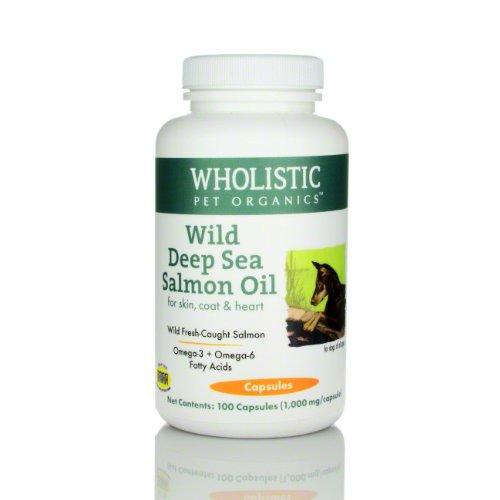 Wholistic Pet Organics Wild Deep Sea Salmon Oil 100 Capsules Supplement