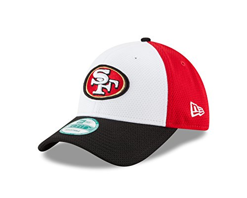 - NFL San Francisco 49ers Perf Block 2 9FORTY Adjustable Cap, One Size, White/Team Color
