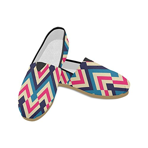 Slip Canvas Story Chevron D On Classic Flats Fashion Sneakers Womens Loafers Shoes UpqY8p