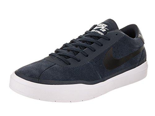 Skate Sb Mens Shoe (Nike Men's SB Bruin Hyperfeel Obsidian/Black/White Skate Shoe 10.5 Men US)