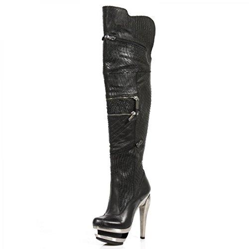Nuovi Stivali Di Roccia M.rock225-r1 Hardrock Gothic Punk Damen Stiefel Schwarz