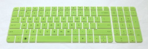 BingoBuy® Semi-Green Ultra Thin High Quality Backlit Soft Silicone Keyboard Protector Skin Cover for 17.3-inch HP Pavilion ENVY dv7-7*** dv7t-7*** g7-2*** m7-1*** series, such as dv7-7230us, dv7-7240us, dv7-7255dx, dv7-7250us, dv7t-7300, g7-2340dx, g7-2226nr, g7-2275dx, m7-1015dx(if your