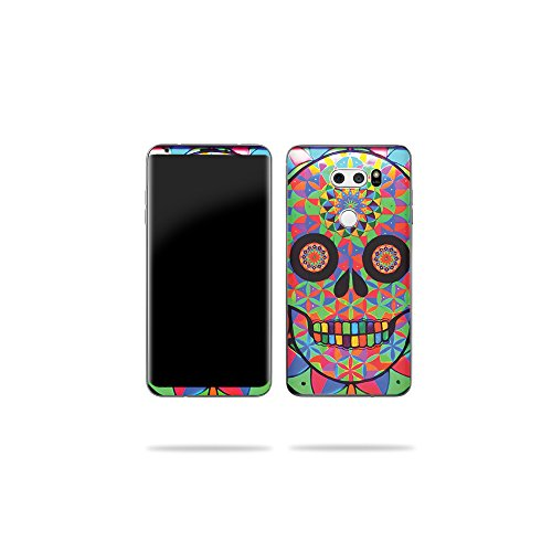 Price comparison product image MightySkins Skin Compatible with LG V30 - Geo Sugar Skull / Protective,  Durable,  and Unique Vinyl Decal wrap Cover / Easy to Apply,  Remove,  and Change Styles / Made in The USA