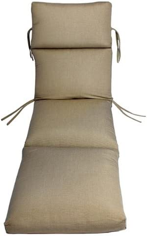 Comfort Classics Inc. Sunbrella Outdoor CHANNELED Chaise Cushion Taupe Rib