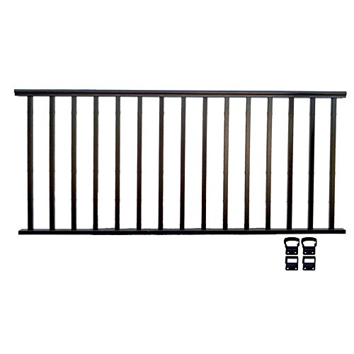 Aluminum Deck Railings - Contractor Deck Railing 8ft x 36in Aluminum Residential Railing - Hammered Black