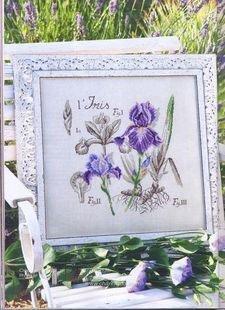 The purple Iris cross stitch kits, 14ct, cotton thread 168x1