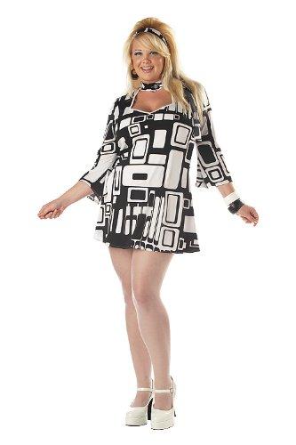 [Plus Size Mod Girl Costume 3XL (18-20)] (60s Mod Girl Costumes)