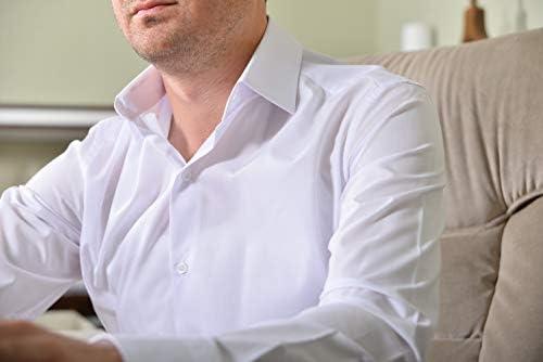 Feste per Uomini Manica Lunga Slim-Fit Camicie in Ferro Facile da Stirare per Affari TMK Camicia da Uomo Matrimoni Tempo Libero