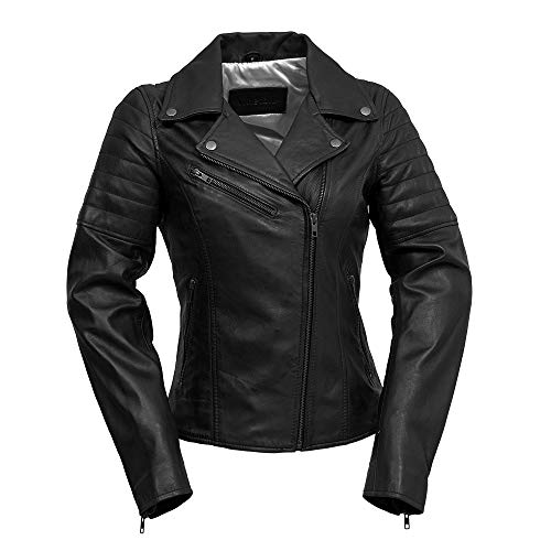 Whet Blu WMB1589-M-black Black Medium The The Princess - Women's Side-Laced Leather Jacket