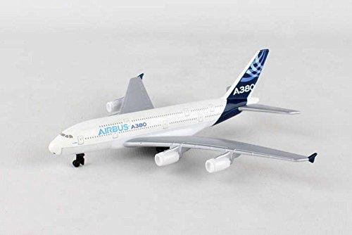 Diecast Airbus - Showcasts Airbus A380 Single Plane, White - Daron RT0380 - Diecast Model Airplane Replica