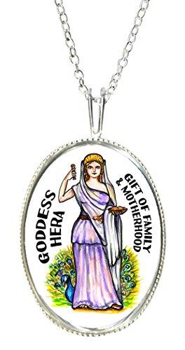 Goddess Lady Cameo - Goddess Hera of Family & Motherhood 925 Sterling Silver 1