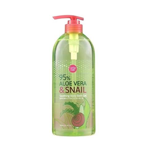 Aloe Vera & Snail Soothing Body Bath Gel 750ml Cathy Doll. - Suave Spray Baby Powder