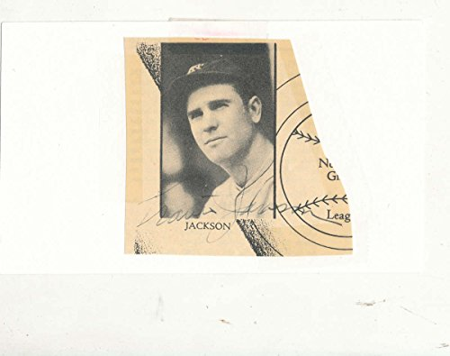 Travis Jackson New York Giants 1922-1936 HOF vintage signed cut on 3x5 card